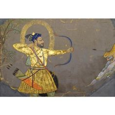 SULTAN ALI ADIL II SHAH OF BIJAPUR HUNTING TIGER, INDIA, DECCAN, BIJAPUR, CIRCA 1660