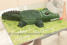 Coolest Crocodile Cake for 2-Year Old... This website is the Pinterest of birthday cake ideas