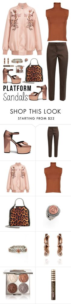 """""""Love this!"""" by musicfriend1 ❤ liked on Polyvore featuring Mulberry, Etro, STELLA McCARTNEY, Marni, Konstantino, Chantecaille, Too Faced Cosmetics, platforms and coppertones"""