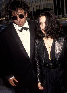 Tim Burton & Winona Ryder #sunglasses