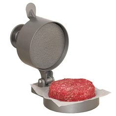 Weston - Burger EXPress Patty Press - Make perfect patties every time, any thickness up to in. Spring plunger button compacts the patty then pops back for quick patty removal. Constructed of heavy-duty aluminum with non-stick coating. Hamburger Maker, Hamburger Patties, Best Burger Recipe, Burger Recipes, Burger Patty Maker, Make Your Own Burger, Meatloaf Burgers, Burger Meat, Turkey Burgers