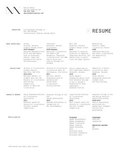 30 Great Examples Of Creative CV Resume Design