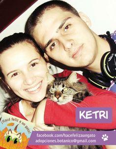 Les presentamos a Ketri (ex Ardilla) un gato tan agradecido de que lo hayan adoptado que con su cola peluda ayuda con la limpieza diaria! ¡Gracias por adoptarlo Thais y Luciano!