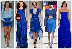 【The colors of 2014】Dazzling blue. #fashion #clothing