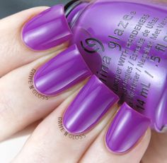 China Glaze - Violet Vibes swatch - Electric Nights Summer 2015 Colletion - IG @GameNGloss