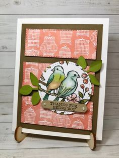 Bird Ballad Beauty by ScrappyHappy - Cards and Paper Crafts at Splitcoaststampers Christmas Challenge, April 4th, Bird Cards, Let's Create, Better Together, Brighten Your Day, Paper Design, Pet Birds, Your Cards