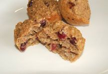 Quinoa cranberry muffins - Quinoa is a great grain to keep in your pantry. It cooks quickly (in about 12 minutes) and can be used for muffins, soups and as a side dish.