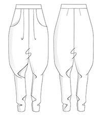 Hier könnt ihr euch das Schnittmuster für die Hose aus dem HANDMADE ...