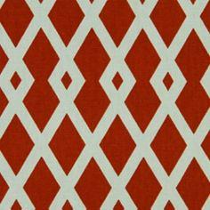 Graphic Fret Pomegranate Drapery Fabric by Robert Allen