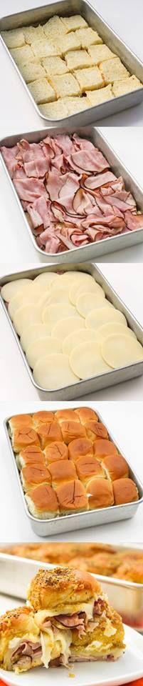 Hawaiian Ham and Cheese Sandwiches Recipe