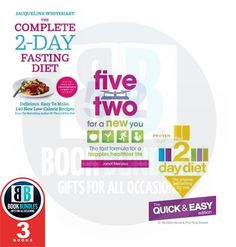 2 Day Diet Collection 3 Books Set, (The 2-Day Diet: The Quick & Easy Edition, Five Two for a New You and The Complete 2-Day Fasting Diet. Buy this book collection set at www.bookbundles.co.uk. #BookCollection #BookSet #BooksForSale #DietBooks #BooksCollection