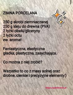 przepis na masę porcelanową Easy Knitting Projects, Diy Projects To Try, Diy For Kids, Crafts For Kids, Teachers Day Gifts, Preschool Art, Cold Porcelain, Kids And Parenting, Decoupage