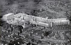 With the sad demise in Radford, Nottingham of the converted building that was once part of John Player and Sons Tobacco Factory, here is a 1920s aerial photograph of the Castle Factory at its zenith when it employed over 5,000 people.