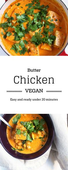 Vegan Butter Chicken | Made in under 20 minutes, without compromising on flavour, this vegan recipe of the classic butter chicken is a must have. Easy, Quick and very Healthy! |Brokefoodies.com