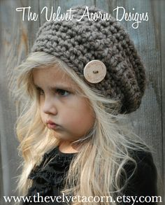 Crochet PATTERN-The Devlyn Hat Toddler Child and Adult