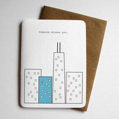Someone Misses YouLong Distance Card by 4four on Etsy, $4.75