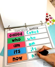 Sight Words Printables for Kindergarten - Interactive binder #sightwords #kindergartenworksheets #kindergartensightwords #planningplaytime