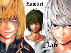 Lawliet Micheal and Nate Anime Death Note Wallpaper
