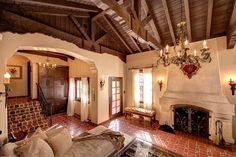Old California and Spanish Revival Style LOVE!!! The architecture just not the decor and colors.
