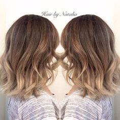 Blonde Balayage Sombre on short hair. Balayage for fall. Balayage in Denver at Hair