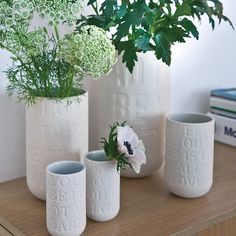 Most flowers are beautiful in the chalk white vases from Kähler Design