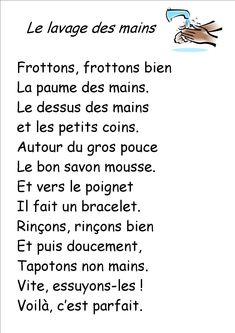 Comptine lavage des mains French Poems, French Kids, Preschool Learning Activities, Monologues, Learn French, Maine, Language, Classroom, Songs