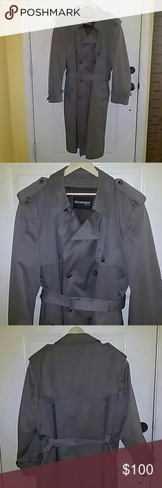 STRATOJAC Mens heavy trench coat MAKE ME AN OFFER  Double breasted Zip out  lining for 40e32d7dbf2
