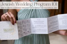 Jewish wedding program 101: How to create a ceremony program that's perfect for your special day!