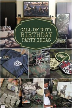 Boy's Call of Duty Birthday Party Ideas
