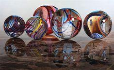 """""""Marbles on Marble"""" 29.5 x 48"""" Oil on aluminum 2010 STEVE MILLS"""
