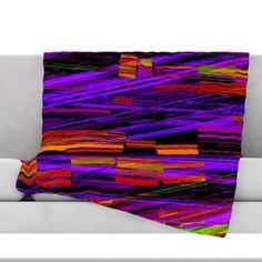 40 x 30 Fleece Blanket Kess InHouse Sylvia Cook Boho Hearts Coral Pink Orange Throw