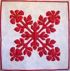 Hibiscus - Hawaiian Applique Patterns - Aloha Quilt Shop