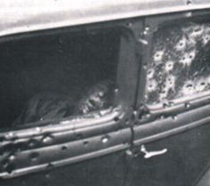 another view of the death car with Clyde visible
