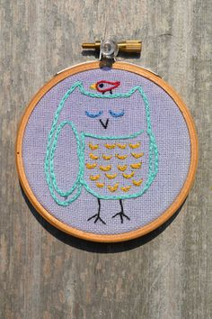 Woodland Owl Hand Embroidery Hoop Art with by RobinPichelmayerArts, $16.00