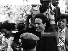 1976: Colonel Muammar Gaddafi, shaking hands with Maltese people during a rally at Cospicua.