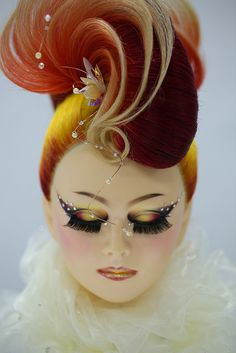 Stunning hair colours. Amazing hair designs. Avant-garde .Hugely inspiring for a professional photographer based in Bury St. Edmunds, Suffolk www.EricYoungPhotography.co.uk