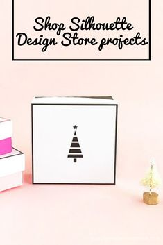 Create these sweet tree gift boxes to fill with pretty baubles for the Holidays! Silhouette Projects, Silhouette Design, Design Projects, Craft Projects, Sweet Trees, Holiday Tree, Gift Boxes, Fill, Templates