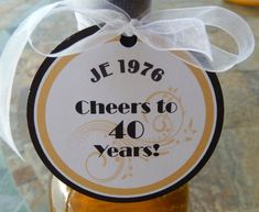 Items similar to 30 - Birthday Cheers custom Thank You Favor Tags - for your Wine or Champagne Bottles - Mason Jar Gifts - Boxed Favors on Etsy Birthday Cheers, 30 Birthday, Party Favor Tags, Bridal Shower, Favors, Unique Jewelry, Handmade Gifts, Etsy, Shower Party