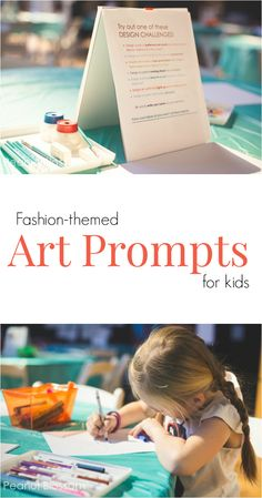 Fashion themed art prompts for kids