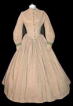 1800's.... I love the waistlines of the old gowns. They were so flattering!