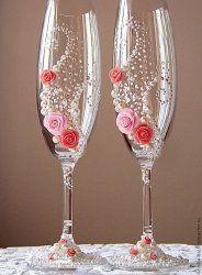 Как своими руками оформить свадебные бокалы