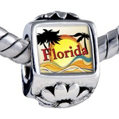 Pugster Silver Plated Photo Bead Travel & Culture Florida Photo Flower European Charm Beads Fits Pandora Bracelet Pugster. $11.24. It's the photo on the flower charm. Fit Pandora, Biagi, and Chamilia Charm Bead Bracelets. Bracelet sold separately. Unthreaded European story bracelet design. Hole size is approximately 4.8 to 5mm. Save 10%!