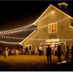 Outside / barnyard lighting Farm Wedding, Chic Wedding, Rustic Wedding, Dream Wedding, Wedding Ideas, Wedding Designs, Perfect Wedding, Summer Wedding, Wedding Details
