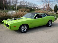 '73 Dodge Charger, My dad is painting his this color. EEEE I CAN'T WAIT!!!!!! It's been broken for 5 or more years and he just needs to paint it now! :D