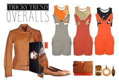 """""""Orange, Grey & Rust   Tricky Trend: Overalls"""" by silkester ❤ liked on Polyvore featuring WearAll, Armani Jeans, Jil Sander, Hermès, NOVICA, TrickyTrend and overalls"""