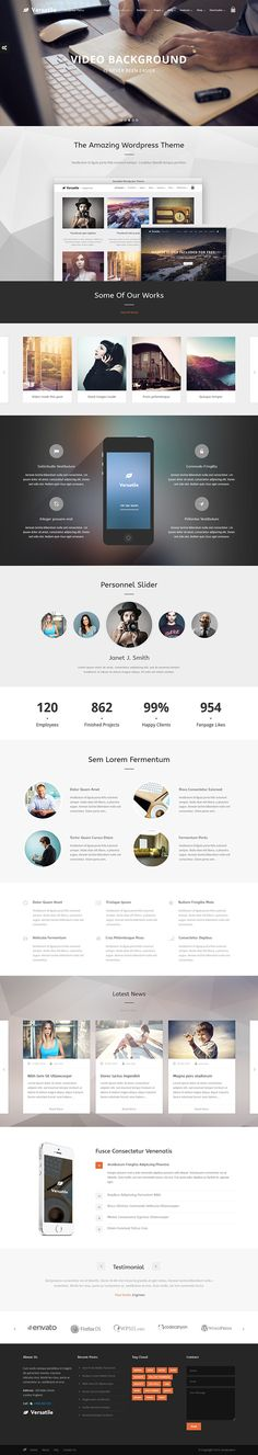 Versatile - Responsive Multi-Purpose WP Theme