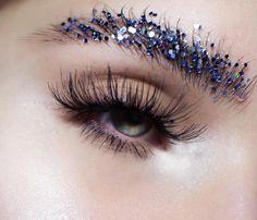 Glitter brows.
