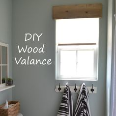 Could work? magenta and lime: diy simple wooden valance