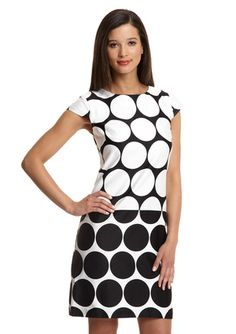 R & K Label Cap Sleeve Dot Box Dress, Ideeli