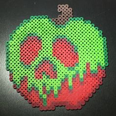 Poison Apple from Snow White Perler Bead by FanaticDesignsByLori
